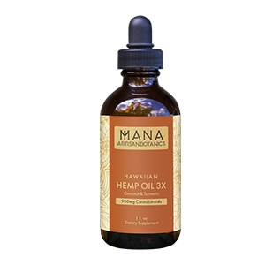Mana Artisan Botanics - Hawaiian CBD Oil 3x Turmeric and Vanilla