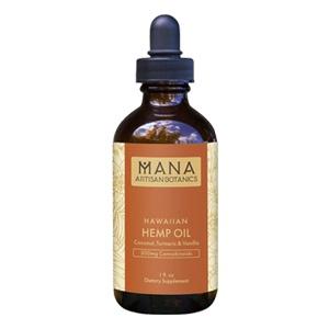 Mana Artisan Botanics - Hawaiian CBD Oil Turmeric and Vanilla