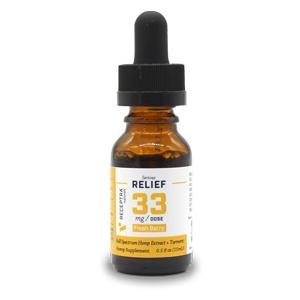 Receptra Naturals - Serious Relief + Turmeric Tincture (33mg)
