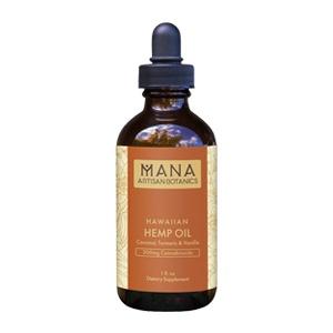 Mana Artisan Botanics - Hawaiian CBD Oil 3X Turmeric & Vanilla